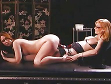 Nina hartley straps on a dildo