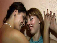 Lustful Lesbian Girls Making Out Passionately In A Hotel Room