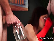 Hot Peach Gets Sperm Load On Her Face Gulping All The Semen