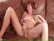 Naked Solo Mature Redhead Masturbates Pussy