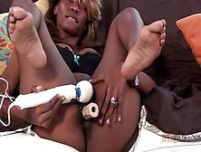 Black Woman Gets An Orgasm From Masturbating Clitoris With Vibra