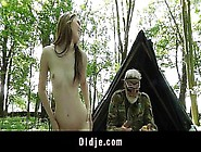 Lucky Old Guy Get To Fuck This Hot Teen Pussy In Trees
