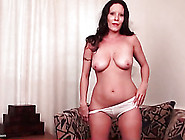 Cute Curvy Mature In Panties Masturbates Solo