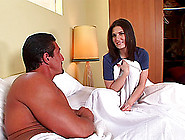 She Crawls Into Bed With Him,  Takes Off Her Thong And Lets Him B