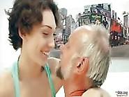 Busty Girl Seducing A Mature Man