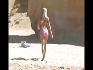 Horny Blonde Public Beach