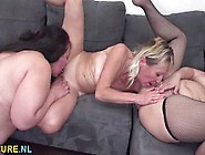 Three Lesbians Matures Eating Teen Pussy