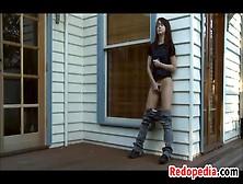 Cute Redhead Masturbating Outside - Motherless. Com