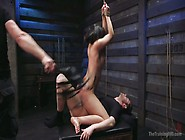 Two Dudes Punish Tied Up Harlot Violet Starr In The Dark Bdsm Ro