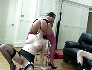 Aged Mature Inside Stockings Pearl Pleasuring Pussy