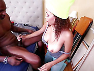 Chubby Ebony Goes Wild On Cock