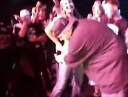 Singers Expose Girl's Tits And Grope Them On A Stage With M