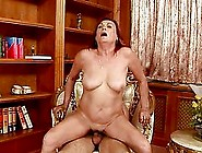 Mature Redhead Slut Lupita Gets Her Old Pussy Fucked In The Stud