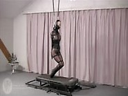 Hopping On Treadmill In Tight Bondage And Ballet Boots