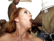 Randy Tart Janet Mason Slurps On These Black Dicks