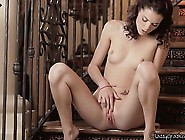 Beautiful Brunette Takes Her First Taste Of Her Sweet Pussy Juic