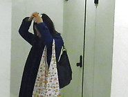Cute And Petite Japanese Girl Is Peeing In The Toilet