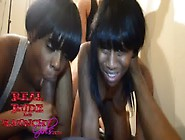 Two Ebony Teens Make Wild Orgy Sex Tape