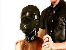 Padlocked Leather Hood Bondage