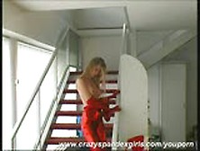 Strip In Fullbody Red Catsuit