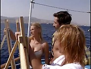 Two Teen Blondes Share One Dick On A Boat