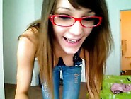 Teasing Nerdy Teen On Camera
