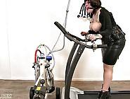 Bbw Mature Running On A Treadmill In High Heels Naked