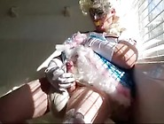 Adultbaby Diapered Sissy Princess In Pretty Blue Dress