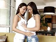 Brunettes Slurping On Hot Sexy Clit Slit