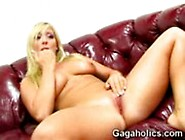 Sweet Blonde Carmen Gags On Cock And Stuffs Her Mouth With Deep