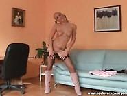 Slutty Blonde Makes Her Man Cum