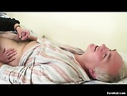 Grandpa Fucks Nurse While Grandma Masturbates