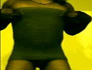 Ebony Sissyboy Dances In Short Grey Mini