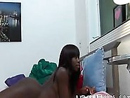Glorious Looking Black Younger Girl Displaying Her Nude Body On