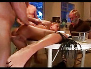 Blonde Wife Thrown On Table And Forced To Please In Deepthroat A