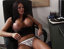 Busty Secretary Caught Masturbating At The Office