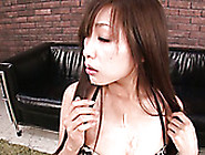Slim Long Haired Girlie From Asia Blows Hard Sausage Of Her Dude