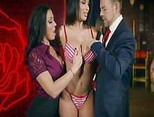 Tanning Oil Commercial Turns Into Hot Threesome With Two Stunner