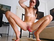 Solo Beauty Toys Her Pussy In Close Up