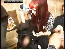 Gothic Teen Blows Some Loser Cocks