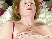 Naughty Granny Likes To Put On Sexy Lingerie And Play With Herse