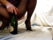 Champagne Bottle Anal Shower.  Georgiana From 1Fuckdate. Com