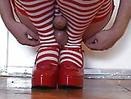 She-Girl Dragomys Joi Sexy Solo Cum On Red Shoes