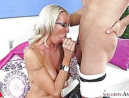 Blonde Woman Is Working As A Private Teacher And Often Having Se