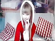 Euro Teen Christmas Fun On Cam For U Comemycam. Com