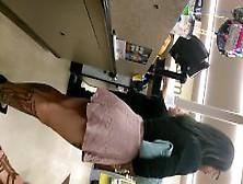 Finest Teen Candid Tattoed Ass In Pink Skirt.