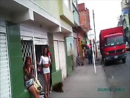 Real Street Prostitutes Of Bogota,  Colombia,  Part 1 Of 3,  Red Li