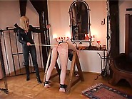 Dominatrix Dinah Having Fun With Her Slave