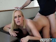 Hot Blonde Agent Kate England Lands New Client