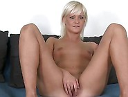 Blonde Whore Masturbates Herself Before Fucking In Casting